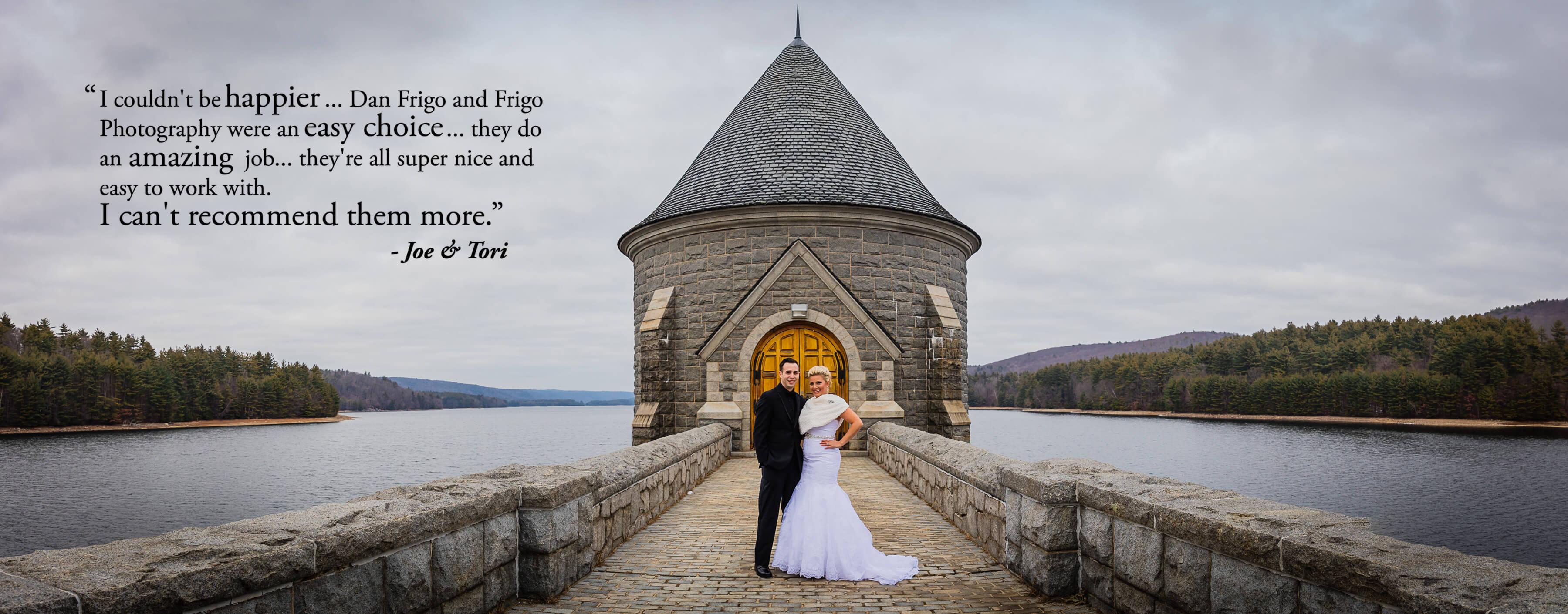 Saville Dam Barkhamsted Reservoir wedding photo